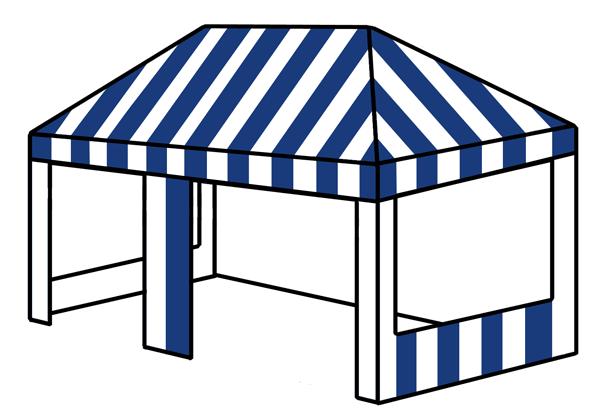 3m x 6m rectangular tent