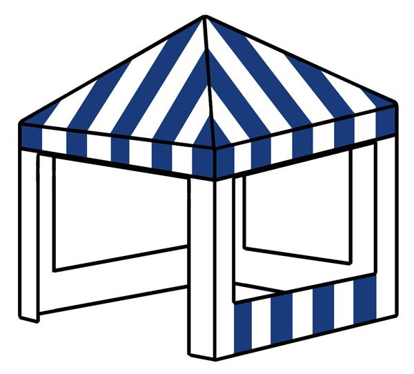 3m x 3m square tent