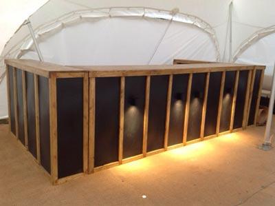 LED Bar in daylight