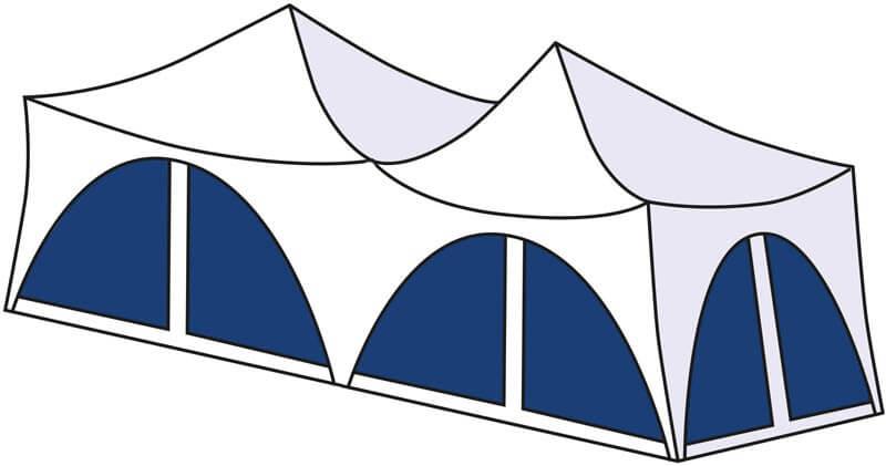 Long capri tent for hire