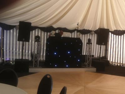Stage and octagonal dance floor